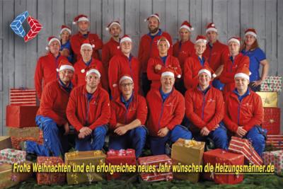 Die Heizungsmänner wünschen frohe Weihnachten!