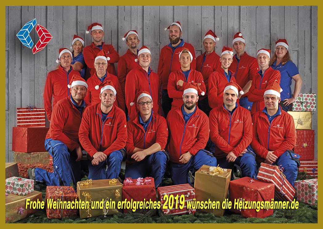 Die Heizungsmaenner wünschen frohe Weihnachten!